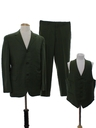 Mens Mod Wool Three Piece Suit