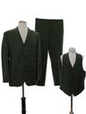 Mens Mod Wool Three Piece Suit