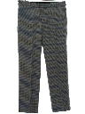 Mens Plaid Flat Front Slacks Pants