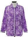 Womens Print Disco Hippie Shirt
