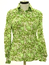 Womens Pow-Flower Print Disco Shirt