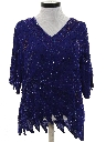 Womens Beaded and Sequined Cocktail Shirt