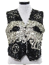 Womens Totally 80s Sequined Cocktail Vest