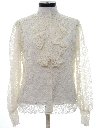 Womens Lace Ruffled Shirt