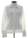 Womens Sheer Lace Shirt