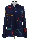 Womens Print Disco Style Pullover Shirt