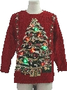 Unisex Multicolor Lightup Ugly Christmas Vintage Sweater