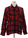 Mens Plaid Flannel Sport Shirt
