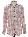 Mens Plaid Mod Shirt