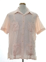 Mens Designer Guayabera Style Sport Shirt
