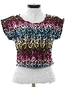Womens Totally 80s Sequined Shirt