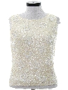 Womens Sequin And Beaded Cocktail Shirt