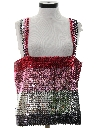 Womens Totally 80s Sequined Cocktail Shirt