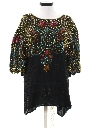 Womens Totally 80s Sequin And Beaded Cocktail Shirt