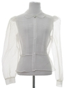 Womens Totally 80s Sheer Shirt