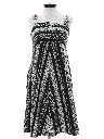 Womens Hippie A-Line Sun Dress