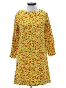 Womens Mod A-Line Hippie Dress