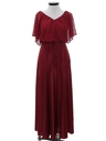 Womens Disco Cocktail Maxi Dress