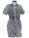 Womens Totally 80s Acid Washed Mini Dress