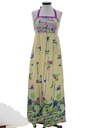 Womens Mod Hippie Maxi Dress