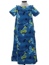 Womens Mod Hawaiian Muu Muu Dress