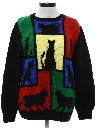 Womens Totally 80s Crazy Cat Lady Ugly Sweater