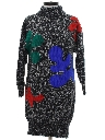Womens Totally 80s Knit Sweater Dress