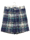 Mens Totally 80s Preppy Plaid Shorts