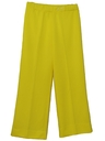 Womens Flared Wide Leg Knit Pants