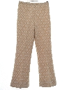 Womens Mod Flared Knit Pants