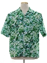 Mens Photo Print Hawaiian Style Disco Shirt