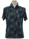 Mens Designer Resort Wear Style Print Disco Shirt