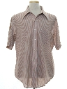 Mens Subtle Striped Print Disco Shirt