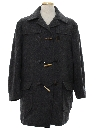 Mens Mod Pendleton Wool Car Coat Jacket