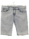 Mens Totally 80s Style Acid Wash Shorts