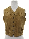 Womens Western Leather Vest