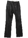 Womens Jeans-Cut Leather Pants