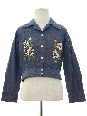 Womens Embroidered Denim Hippie Jacket