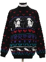 Womens Totally 80s Cat Lady Sweater