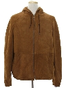 Mens Totally 80s Suede Leather Jacket