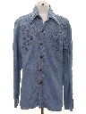 Mens Chambray Hippie Style Shirt Jacket