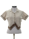 Womens Totally 80s Western Cropped Shirt