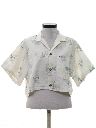 Womens Totally 80s Reverse Print Cropped Shirt