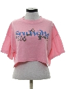Womens Totally 80s Cropped T-Shirt