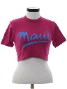Womens Totally 80s Cropped Travel T-Shirt