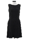 Womens Mod Little Black Dress
