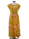 Womens Mod Hawaiian Inspired Dress