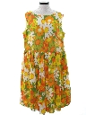 Womens Mod Pow-Flower Hippie Dress