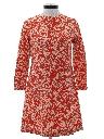 Womens Mod Paisley Go-Go Style Dress