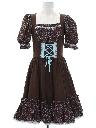 Womens Dirndl Bavarian Oktoberfest Style Dress